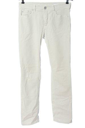 Raffaello Rossi Jeansy z prostymi nogawkami biały W stylu casual