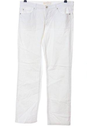 Raffaello Rossi Jeansy z prostymi nogawkami biały Prosty styl