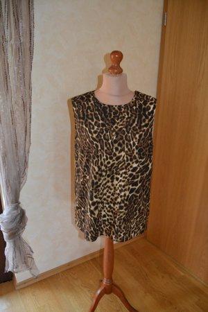 Raffinierte ärmellose Bluse von Ralph Lauren im Leo-Look