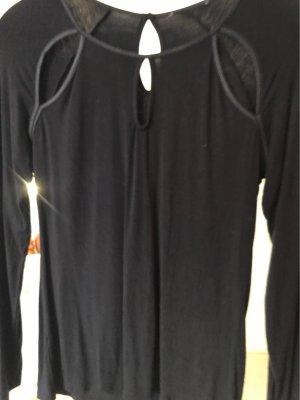 0039 Italy Długa koszulka czarny Bawełna