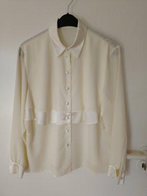 ara Bluzka z falbankami w kolorze białej wełny