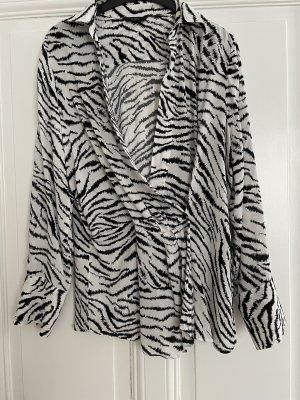 C&A Yessica Kopertowa bluzka biały-czarny