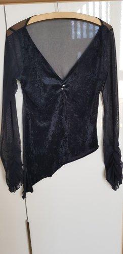 Raffinierte Bluse mit transparentem Rücken