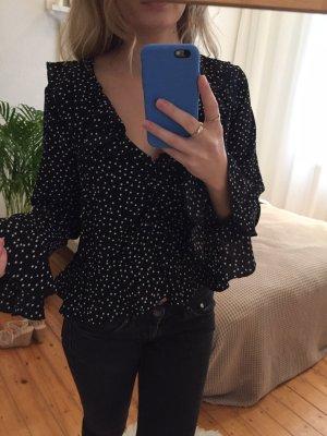 Bluzka z falbankami czarny