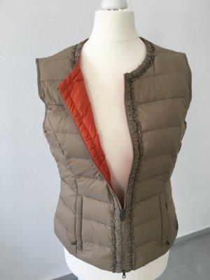 Olsen Gilet en duvet taupe-gris brun tissu mixte