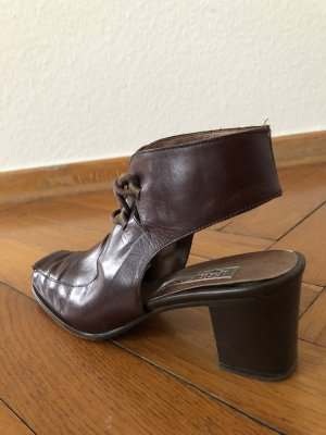 0039 Italy Lace-up Pumps dark brown