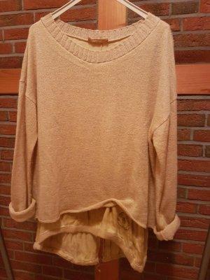 Bleifrei Oversized Sweater sand brown wool