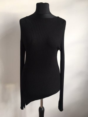 Zara Knit Lange jumper zwart Viscose