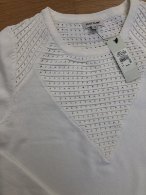 River Island Haut cut-out blanc cassé