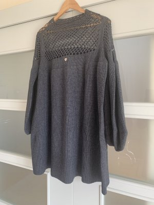 Twin set Vestido tejido gris