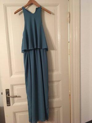 Raffiniertes petrolfarbenes Midi-Kleid