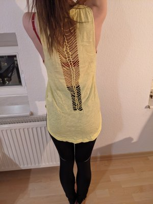Vans Top long jaune clair coton
