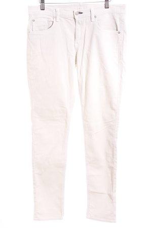 Rag & bone Pantalon en velours côtelé crème style décontracté