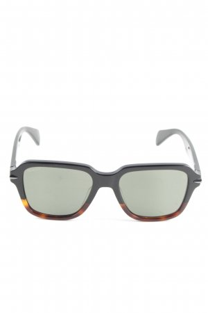 Rag & bone eckige Sonnenbrille schwarz-hellorange Elegant