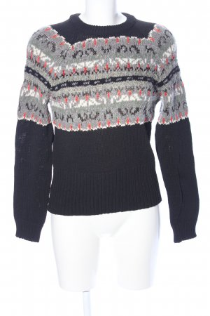 Rag & bone Grobstrickpullover grafisches Muster Casual-Look