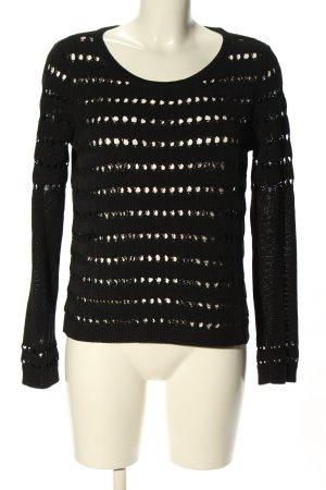 Rag & bone Crochet Sweater black allover print casual look