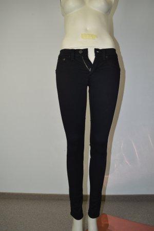 Rag & Bone Jeans Gr. W25 Schwarz Weiß Röhre Stretch