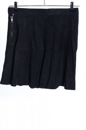 Rag & bone Jupe en cuir noir style décontracté
