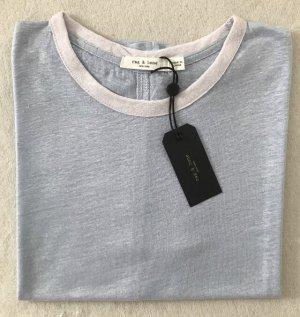 Rag & Bone Leinen T-Shirt Hellblau, XS, 34/36, feine Qualität
