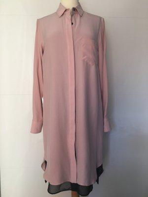 Rag & Bone Seidenkleid Kleid rose puderfarben schwarz NEU
