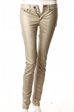 Rag & Bone Skinny Jeans goldfarben beschichtet