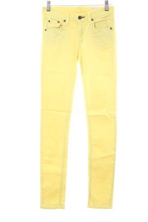 Rag & bone Skinny Jeans neongelb extravaganter Stil