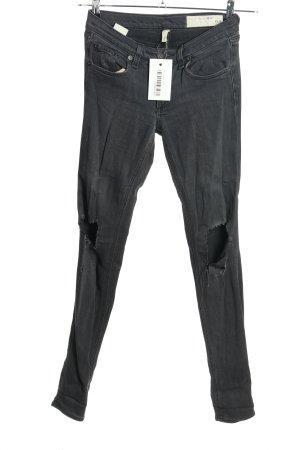 Rag & bone Skinny Jeans hellgrau Casual-Look