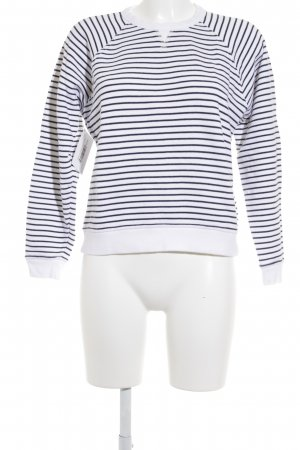 Rag & bone Sweatshirt weiß-dunkelblau Streifenmuster Casual-Look