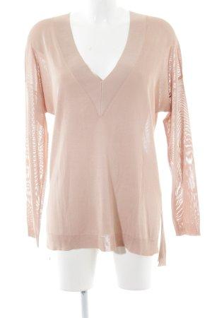 Rag & bone V-Ausschnitt-Pullover nude Casual-Look