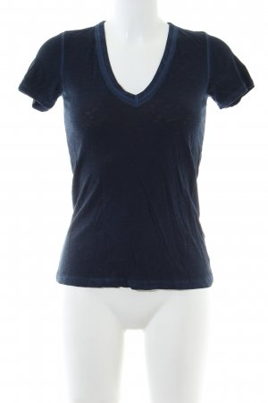 Rag & bone V-Ausschnitt-Shirt blau Casual-Look