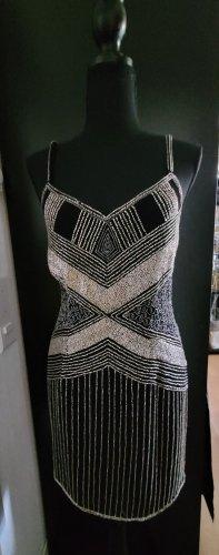 Raga Vestido de lentejuelas negro-color plata