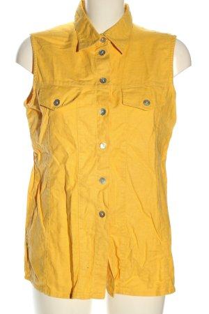 Ragazza Blouse en lin jaune primevère style décontracté