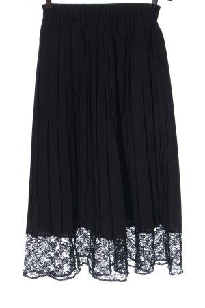Ragazza Falda plisada negro elegante