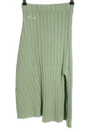 Ragdoll Knitted Skirt khaki striped pattern casual look