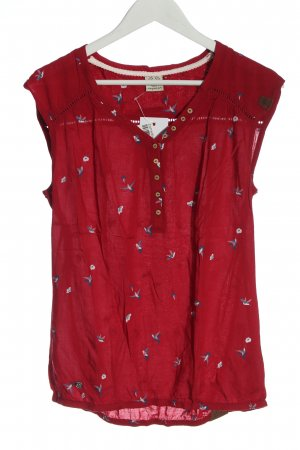 Ragwear Sleeveless Blouse red themed print elegant