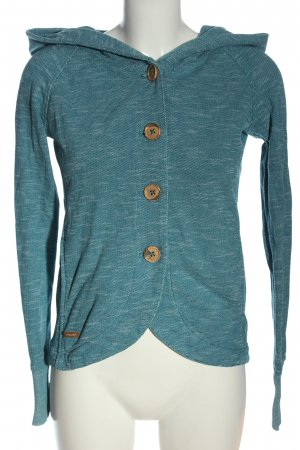 Ragwear Cardigan blau meliert Casual-Look