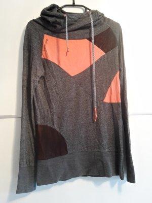ragwear Hoodie grau orange Kapuzenpullover