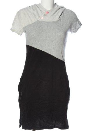 Ragwear Vestido con capucha gris claro-negro moteado look casual