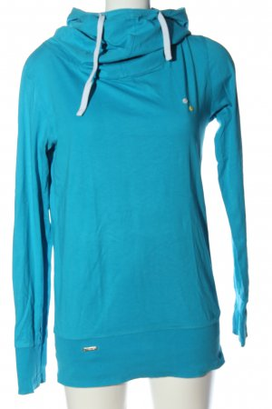 Ragwear Blusa con capucha azul look casual