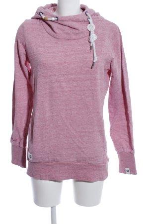 Ragwear Kapuzensweatshirt pink meliert Casual-Look