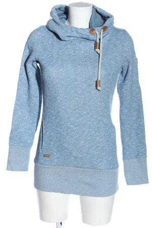 Ragwear Kapuzensweatshirt blau-weiß Casual-Look