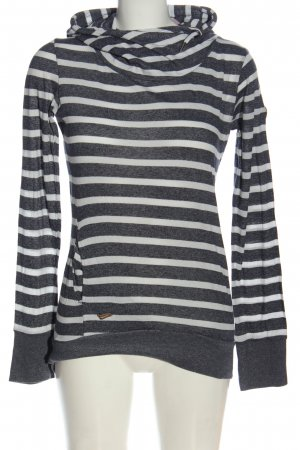 Ragwear Hooded Sweatshirt light grey-white striped pattern casual look