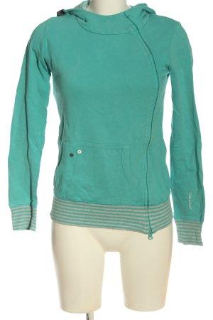 Ragwear Kapuzensweatshirt türkis Streifenmuster Casual-Look