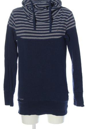 Ragwear Hooded Sweatshirt blue-light grey flecked casual look