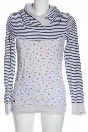 Ragwear Kapuzensweatshirt hellgrau-blau grafisches Muster Casual-Look