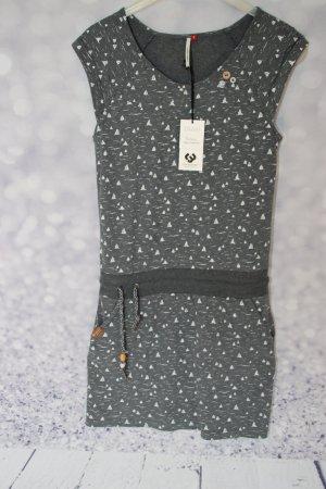 Ragwear Jersey Dress dark grey-white