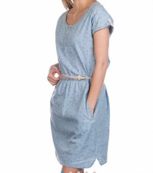 ragwear Kleid hellblau