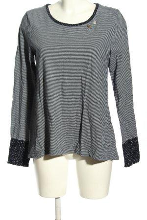 Ragwear Longsleeve black-white striped pattern casual look