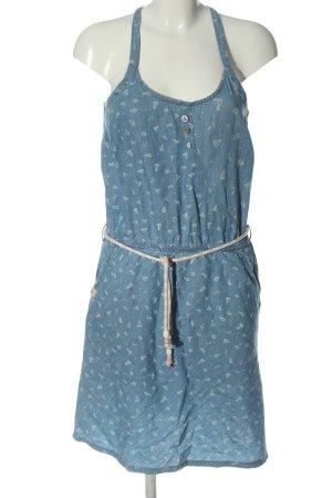 Ragwear Mini Dress blue allover print casual look