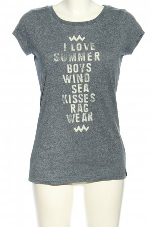 Ragwear Print-Shirt hellgrau-weiß meliert Casual-Look